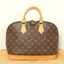 Authentic Louis Vuitton Monogram Alma Handbag Purse Bag Satchel Lock Dustbag