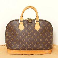 Authentic Louis Vuitton Monogram Alma Handbag Purse Bag Satchel Lock Dustbag