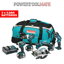 Makita DLX4002 18V LXT Lithium-Ion 4 Piece Kit Including 3x 3Ah Batteries