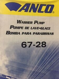 Windshield Washer Pump Anco 67-28
