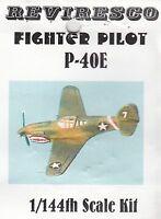 Curtiss P-40E - Amerikanisches Jagdflugzeug - 2. Weltkrieg 1:144 - Zinnbausatz