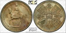 1953 Great Britain Crown Coronation Five Shillings PCGS MS64 Lightly Toned Gem