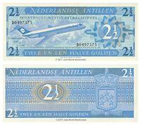 Netherlands Antilles 2.5  2 1/2 Gulden 1970 P-21 Banknotes UNC