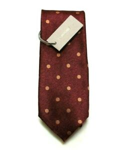 """New Tom Ford Merlo Red Polka Dot Mulberry Silk Tie """"Current Style"""" $270.00"""
