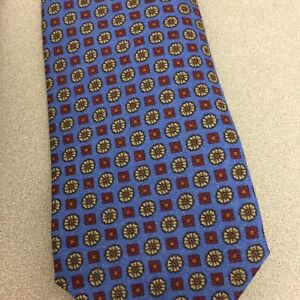 Peter Millar Flower Box Print Tie Lavender NWT $115 Made in Italy  AR110