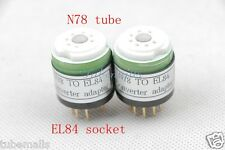 1pc*Gold N78 6BJ5(Adapter top) TO EL84 6BQ5(Bottom) tube converter adapter