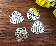 6pcs Heart Tibetan Silver Bead charms Pendants DIY jewelry 20x20mm