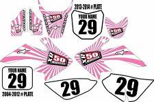 2004-2016 HONDA CRF 50 Dirt Bike Graphics Custom Number Plates in Pink XR50.com