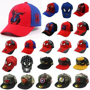 Boys Kids Spiderman Cap Snapback Adjustable Casual Outdoor Hippie Baseball Hat、