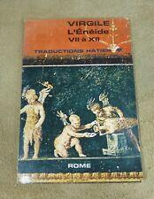 VIRGILE - L'ENEIDE VII à XII  - TRADUCTIONS HATIER 1967