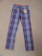"BNWT Boy's JOHNNIE B Boden Checked Jeans SUPER TRENDY W 22"" Slim Leg"