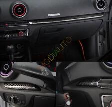 For Audi A3 S3 8V 2015-2018 Carbon Fiber Inner Door Co-pilot Decorate Trim 7Pcs