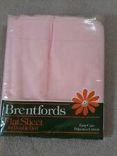 Brentfords double flat sheet pink