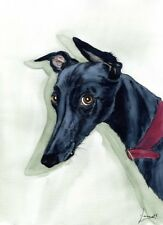 CHEEKY PORTRAIT 5910 DIANNE HEAP GREYHOUND WHIPPET LURCHER DOGS PRINT PAINTING
