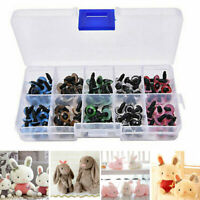 100 Plastic Safety Eyes Toys for Teddy Bear Doll Animal Making Craft DIY Screws