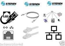 STEREN - ETHERNET - PATCH - CORD - CAT5E - 6 FT - WHITE - CABLE - BRAND NEW