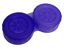 Translucent Purple Contact Lens Storage Soaking Case - L+R Marked - UK Made