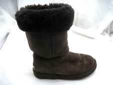 UGG Australia size 7M chocolate suede Classic Tall Womens  Boots Shoes 5815