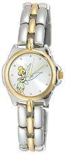 NEW Disney TK2020 Womens Tinkerbell Silver Sunray Dial Analog Bracelet Watch