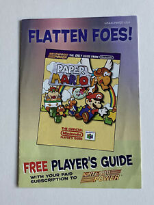 Players Guide Offer Only - Paper Mario - Nintendo 64 N64 - Authentic Box Insert