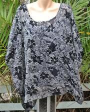 AUTOGRAPH Monotone Print BLACK Flock Kaftan + Cami Size 16.NEW RRP $69.99