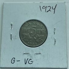 1924 CANADA 5 Cents***L@@K***Good Grade***Combined Shipping***L@@K***