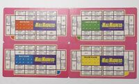 Milton Bradley ELECTRONIC MALL MADNESS 1989 Board Game Parts ~ 4 Peg Boards