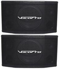 "Pair of (2) Vocopro SV-400 8"" 300W 2 WAY Stereo Vocal Karaoke Speakers"