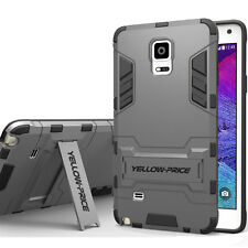 Samsung Galaxy Note 4 Case Rugged Hybrid Armor Kick-Stand Hard Cover Heavy Duty