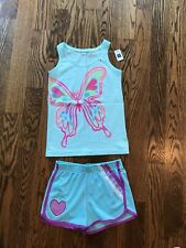 Nwt/Vguc! set Gapkids tank top and Justice gym shorts size L 10 kids