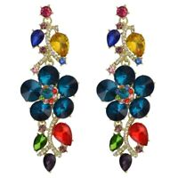 NEW~Betsey Johnson 4 inch long Dangle Flower earrings & free Gift $8.99