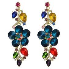 NEW~Betsey Johnson 4 inch long Dangle Flower earrings & free Gift $8.99