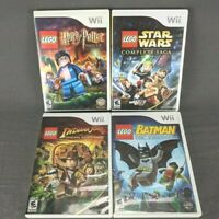 Lot of 4 Lego Star Wars Harry Potter Batman Indiana Jones Nintendo Wii Bundle