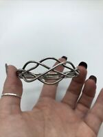 Beautiful Mexico/Sterling Silver/925 Modernist Cuff Bracelet#850