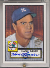 """2001 TOPPS ARCHIVES  HANK BAUER """"N.Y.YANKEES//DIED FEB 9 2007"""" AUTOGRAPH AUTO"""