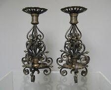 Paire de chandelier en fer forgé 19e-20e. Berliner