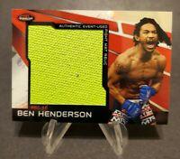 2011 Finest UFC Jumbo Fight Mat Relics Red Refractors #MR-BH Ben Henderson 1/1
