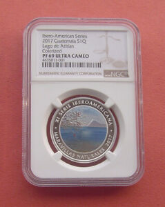Guatemala 2017 Lago de Atitlan 1 Quetzal Silver Proof Coin NGC PF69UC