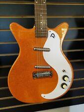 Danelectro D59M NOS+ Electric Guitar 60th Anniversary Orange Metalflake