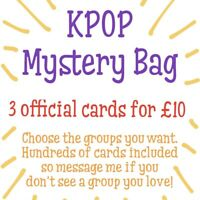 Kpop Official Photocard Mystery Bag (3pc) BTS Stray Kids SF9 Twice Blackpink EXO