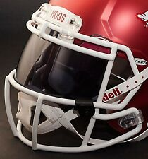 *CUSTOM* ARKANSAS RAZORBACKS NCAA OAKLEY Football Helmet EYE SHIELD / VISOR
