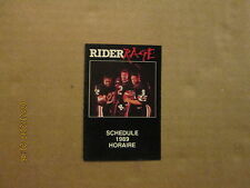 CFL Ottawa Rough Riders Vintage Circa 1989 Logo Football Pocket Schedule