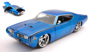 PONTIAC GTO JUDGE 1969 METALLIC BLUE 1:24 MODELLINO JADA TOYS SCALA