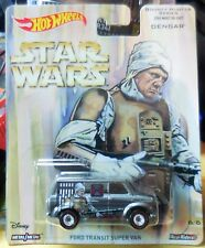 2017 Hot Wheels Pop Culture Disney Star Wars Ford Transit Super Van Real Rider