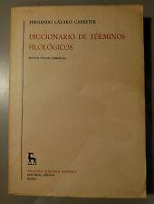 Spanish Dictionary Philological terms Diccionario de terminos filologicos 1962