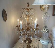 Antique Crystal Table Lamps In Antique Chandeliers Fixtures