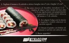 G 1434 C&C 3555 SCHEDA TELEFONICA USATA SUSHI A LA CARTE CON TRIANGOLINO