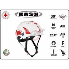 Casco Protezione Bianco OPERATORI CRI Croce Rossa Italiana KASK ITALIA Art.WHE0