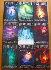Lot 9 SPOOKSVILLE Books Christopher Pike 1-8 10 VGC L1