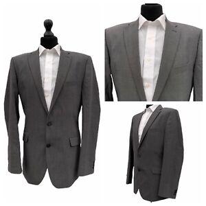 Mens Jeff Banks Suit Jacket Blazer Chest 42 Long Grey 100% Wool  P59